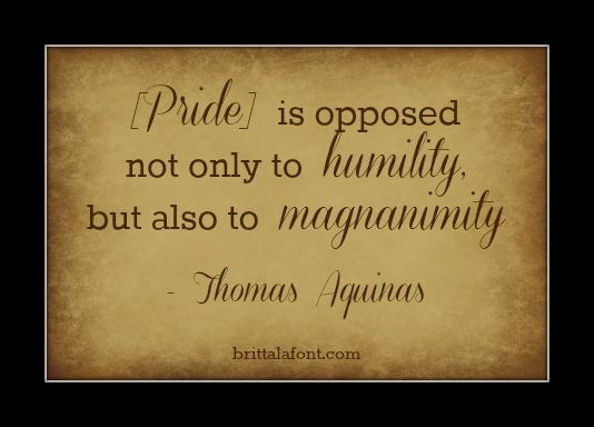 Pride Thomas Aquinas