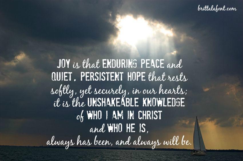 Joy. In Trials?