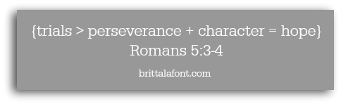 Romans 5.3.4