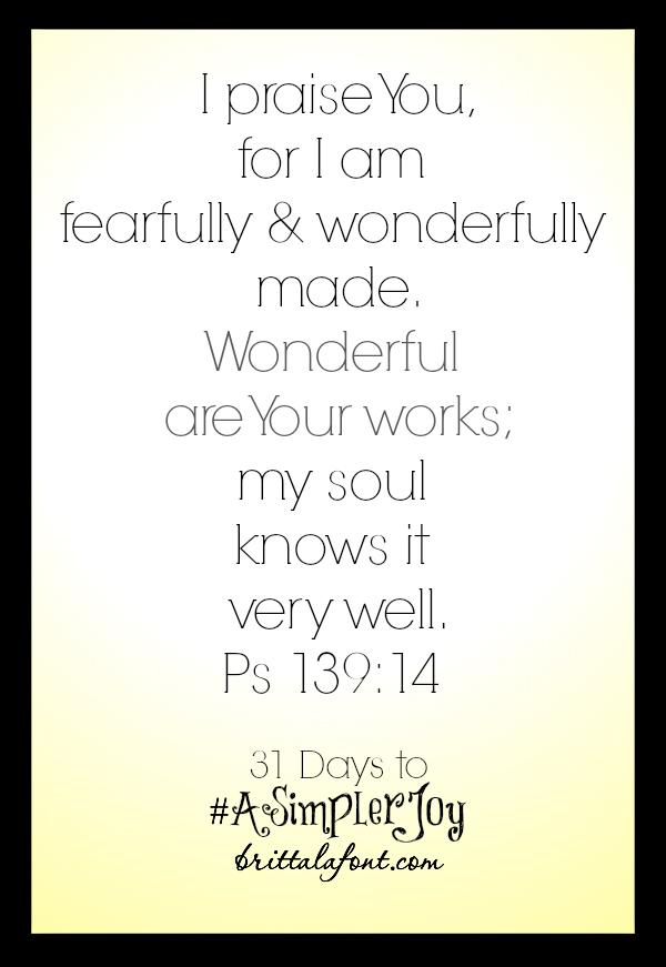 Brittalafont.com Psalm 139.14