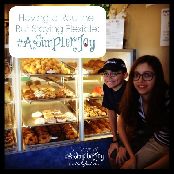 31 Days to #ASimplerJoy: Family Schedules