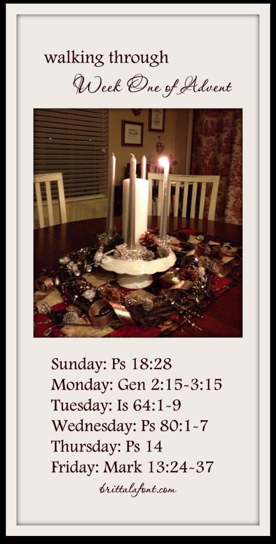 Walking Through Advent: Week One