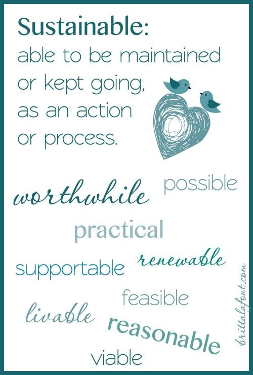 is it sustainable, worthwhile, practical, viable, etc.