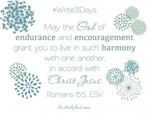 Romans 15.5 Write31Days